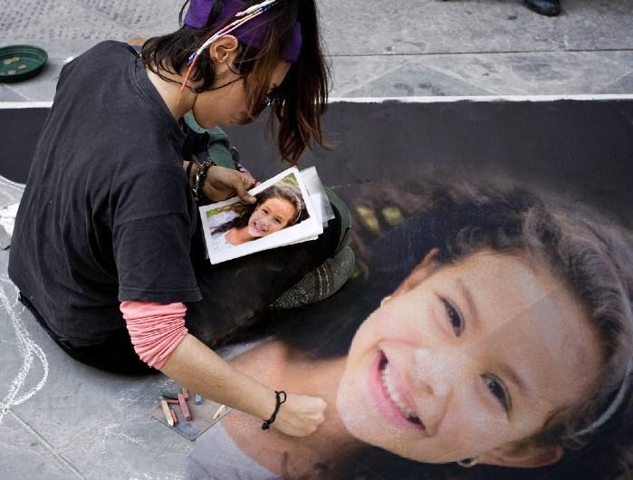 montagem pintura de rua