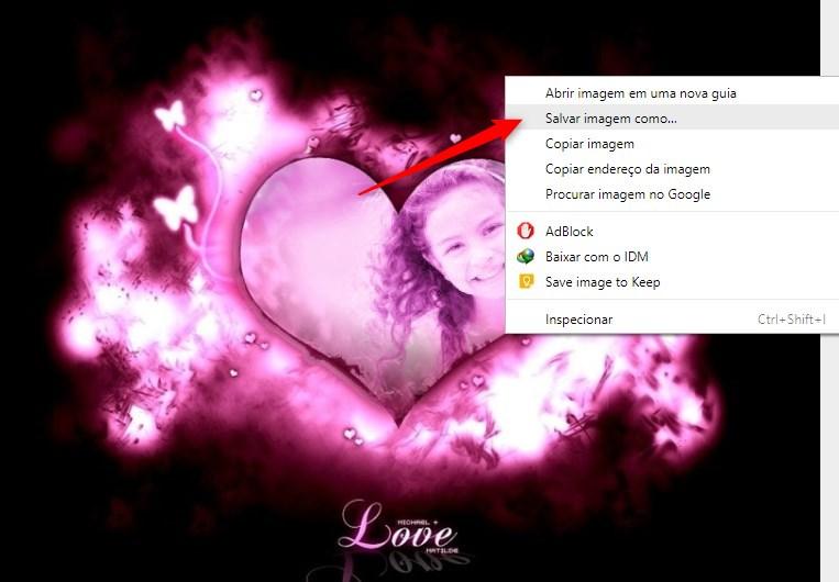 salvar montagem coração
