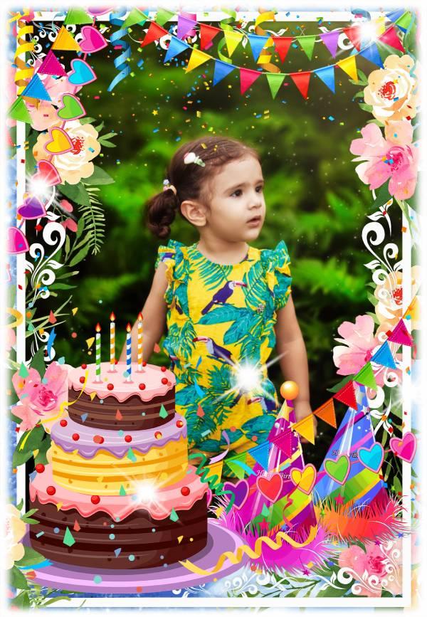 moldura festa aniversario