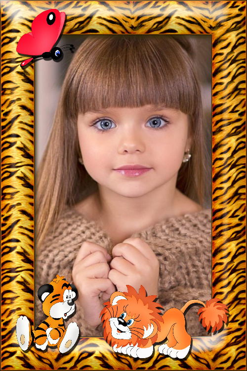 moldura animais infantil