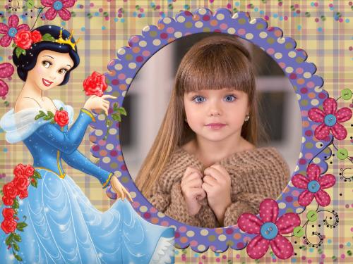 moldura branca neve princesa