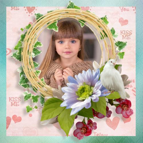 moldura casais flores