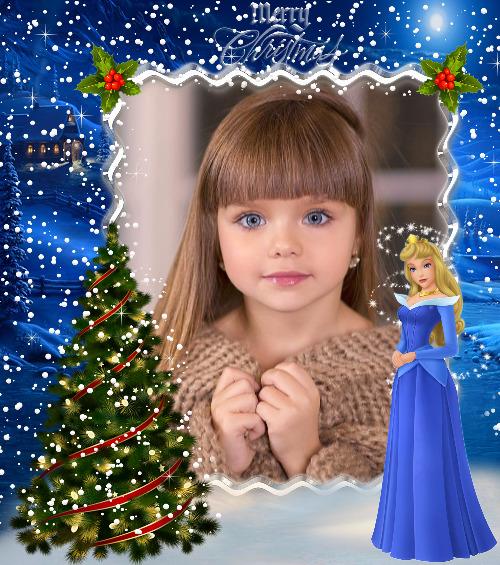moldura cinderela natal
