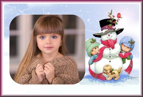 moldura natal boneco nevee