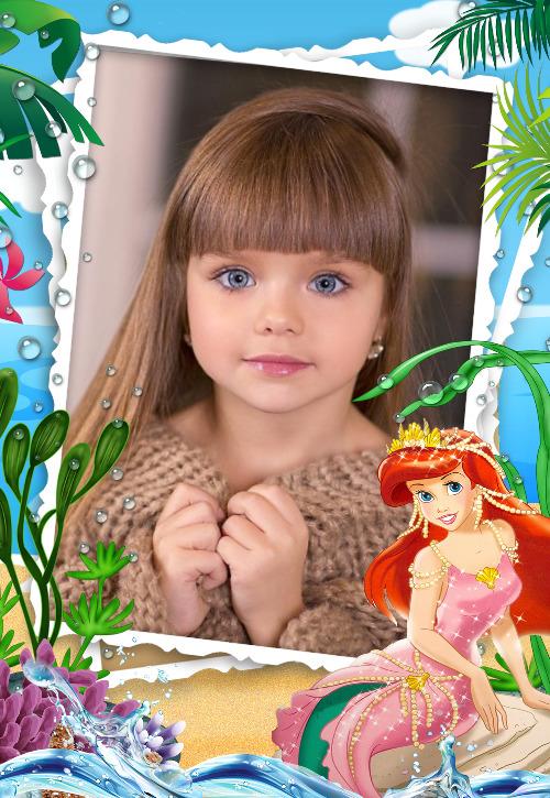 moldura princesa ariel 1