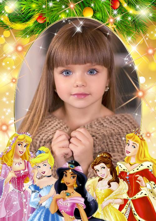 moldura princesas disney
